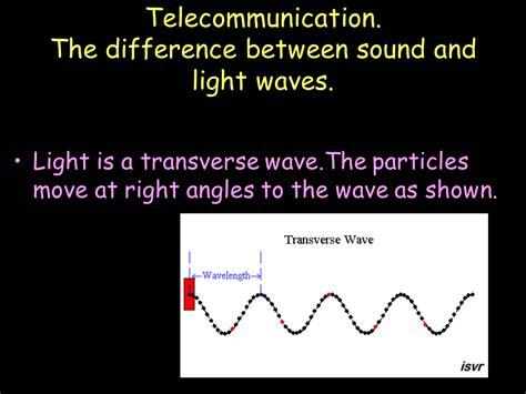 what is light and sound telecommunication sound presentation physics sliderbase