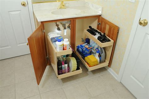 Bathroom Vanity Storage Organization Bathroom Pull Out Shelves With Risers Contemporary Bathroom Cabinets And Shelves Chicago