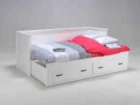 lit banquette extensible 2x 80x200cm en bois 2 tiroirs