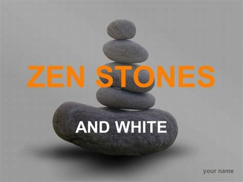 zen stones template grey background
