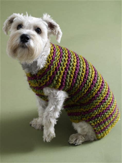 knitting pattern dog sweater large striped dog sweater free knitting pattern craftfoxes