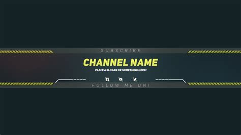 Kanal Design Vorlage Photoshop Channel Banner Template Rubybursa