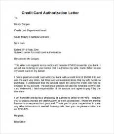 Credit Card Authorization Letter 10 Download Documents