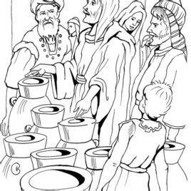 Wedding At Cana Coloring Sheet by Wedding At Cana Coloring Page Az Coloring Pages Bible