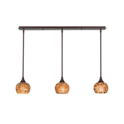 Bronze Island Light Fixtures World Imports Bedford 4 Light Rubbed Bronze Glass Island Pendant Wi613488 The Home Depot
