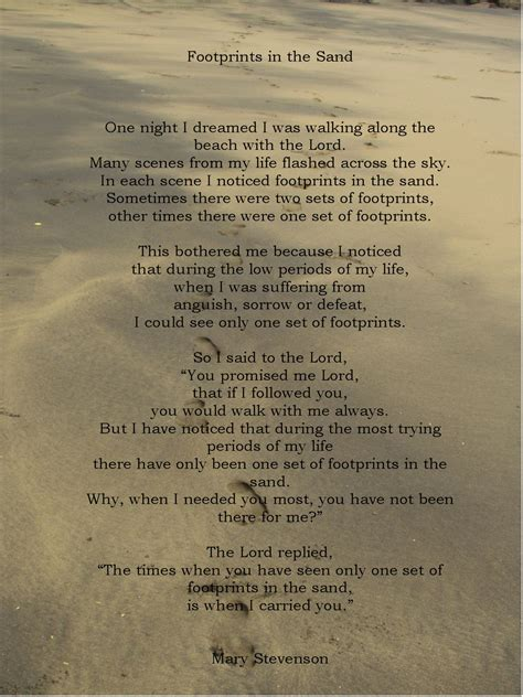 printable version of footprints in the sand poem printable footprints in the sand