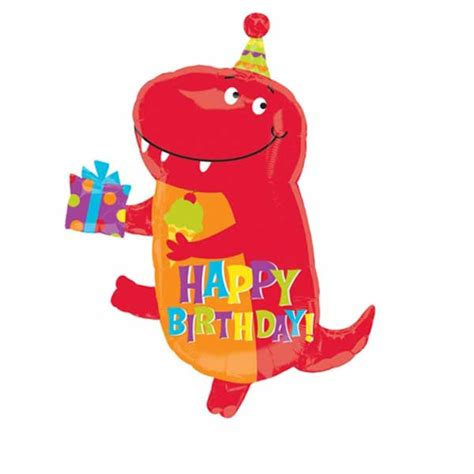 Happy birthday dinosaur supershape foil balloon balloons co uk
