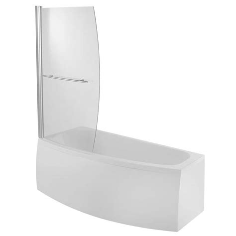 bathtub 1400mm moods space saver shower bath screen 900mm x 1400mm