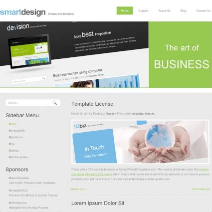 Smart Design Template Free Website Templates In Css Html Js Format For Free Download 274 92kb Smart Website Templates