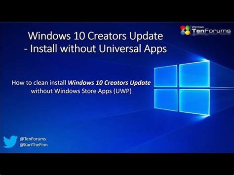 install windows 10 without update windows 10 creators update install without uwp apps