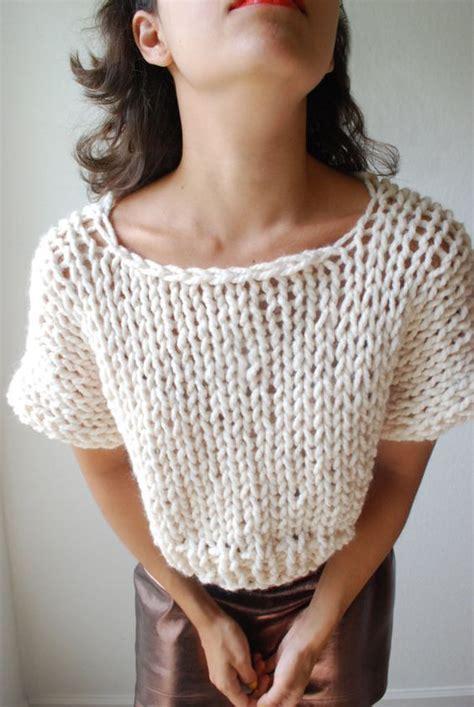 Pattern Knit Top the soho crop top sweater knit in fisherman par