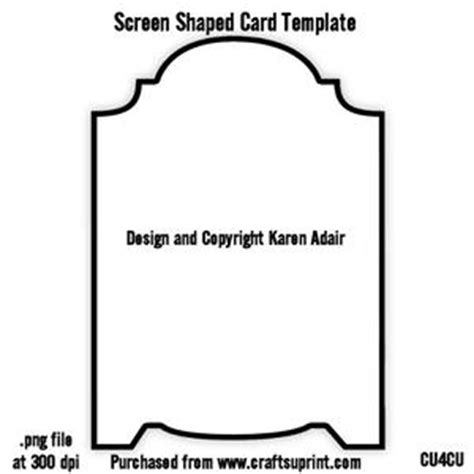 Scalloped Edge Large With Point Card Template by Scallop Edge Stepper Card Template Cup321940 168