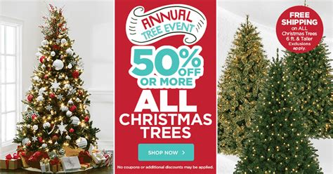 christmas tree sale 50 off plus free shipping