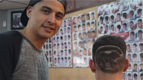 Chicago Cubs Haircuts | cardinals fans loses bet gets cubs logo shaved in his head