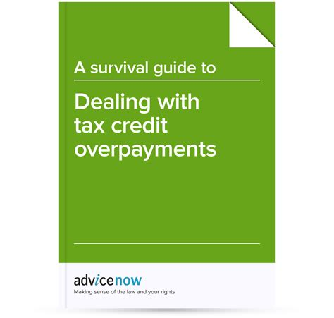 Tax Credit Award Notification Letter A Survival Guide To Dealing With Tax Credit Overpayments Advicenow