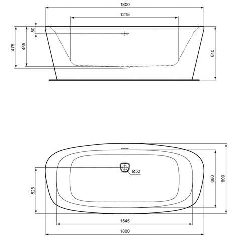badewanne ideal standard ideal standard dea freistehende k 246 rperform badewanne 180 x