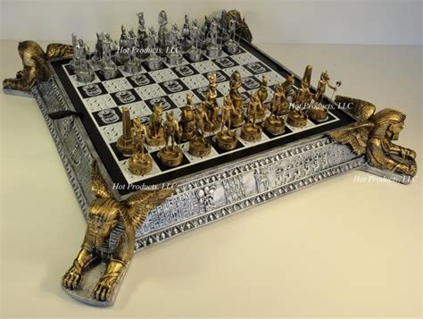 Metal Chess Set by Pewter Metal Gold Amp Silver Egyptian Chess Set W Egypt