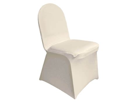 Ivory Spandex Chair Covers by Drapery And Event Rentals Llc