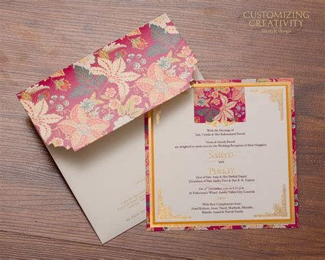 Customized Wedding Cards by 25 Best Indian Wedding Cards Ideas On
