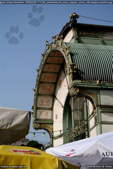 otto pavillon seitenansicht einer kuppel eines otto wagner pavillon