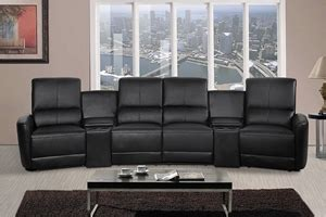 home theatre recliner lounge oscar 4 seater home theatre reclining lounge black