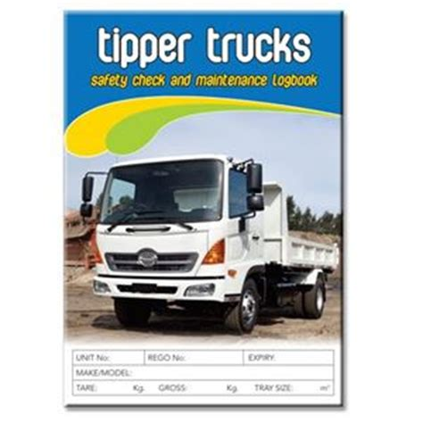 Background Check After Starting Tipper Truck Safety Check Logbook Buy Commercial Logbook Personalised Custom