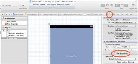disable auto layout during animation ios programming tutorial build a simple iphone camera app