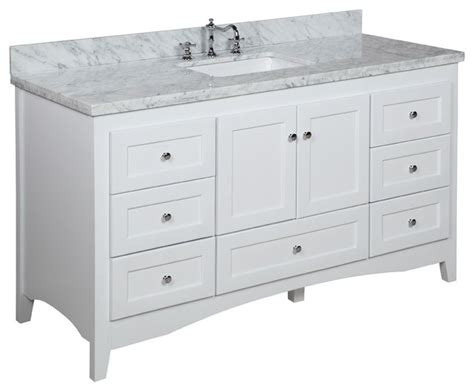 Bathroom Vanities 60 Single Sink Single Sink Bath Vanity Transitional Bathroom Vanities And Sink Consoles By Kitchen