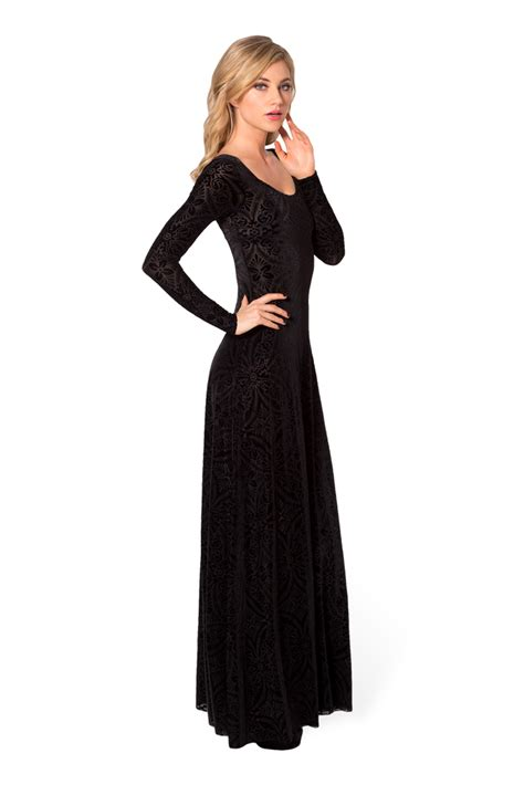 Longdress Velvet velvet maxi dresses with side split cuts designers collection