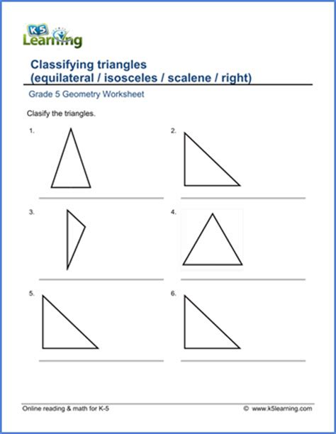 Classifying Triangles By Sides And Angles Worksheet The