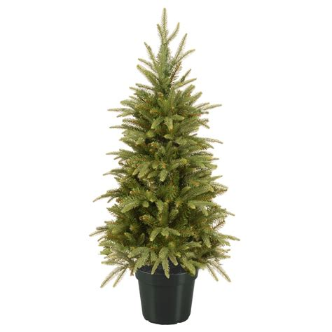 3ft weeping spruce potted feel real artificial christmas