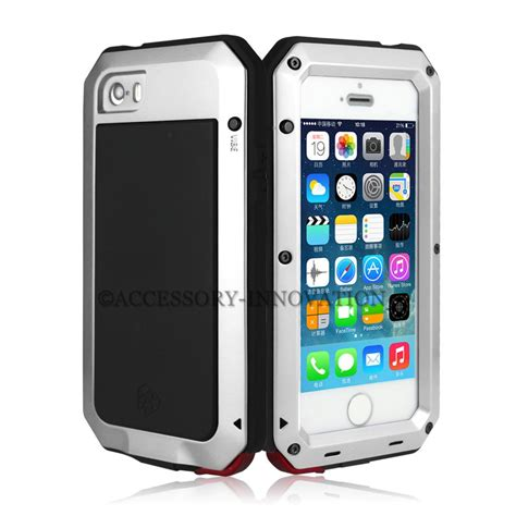 Tempered Glass Iphone 4 tempered aluminum gorilla glass metal for iphone 4 4s 5c 5 5s shockproof ebay