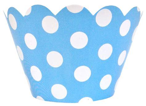 Polka Blue Bergo Busui Ay cupcake wrapper 20pcs baby blue with white polka dots