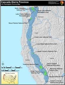 cascade mountains oregon map cascade mountains u s national park service