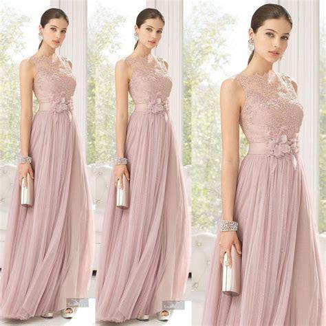blush colored bridesmaid dresses 2016 cheap bridesmaid dresses blush pink a line tulle lace