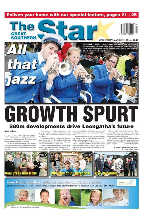 issuu the great southern star april 1 2014 by the the great southern star march 12 2014 by the great