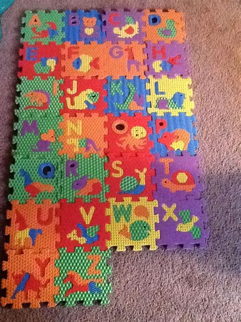 Discover Abc And Number Foam Mat - abc number foam puzzle blocks 2 4