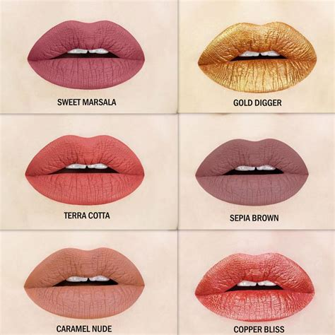 fall color lipsticks 214 best matte liquid lipstick images on