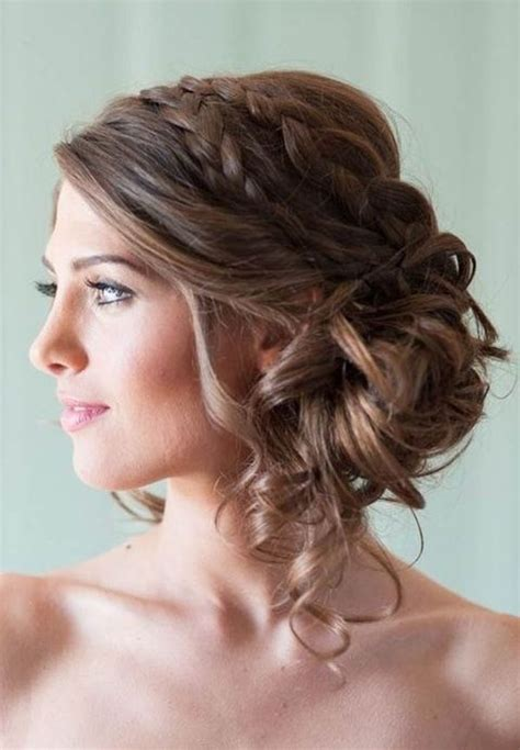 Braided And Curled Hairstyles by 34 Beautiful Wedding Hairstyles With Curls Weddingomania