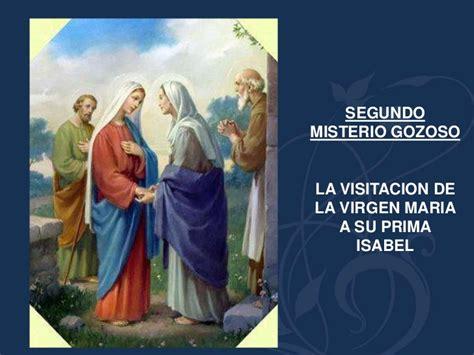 imagen de la virgen maria visitando a su prima isabel misterios gozosos