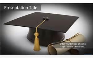 Graduation Powerpoint Templates by Graduation Cap Powerpoint Template 5895 Free Graduation
