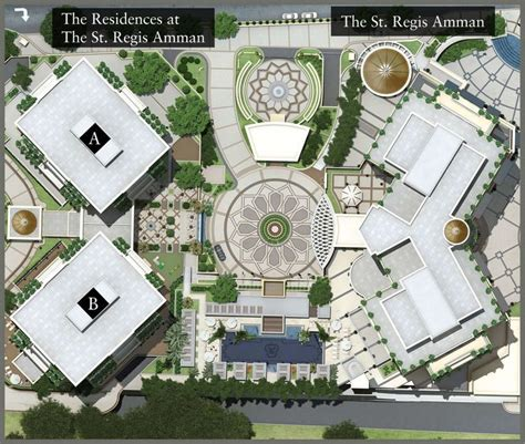 hotel design layout and landscaping master plan st regis hotels and resorts layout plan