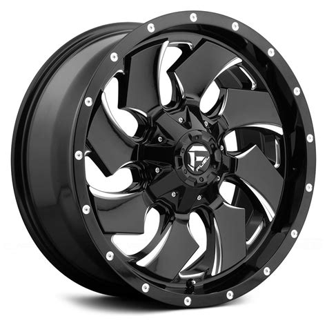 Interior Home Lighting by Fuel 174 Cleaver 1pc Wheels Gloss Black With Milled Accents