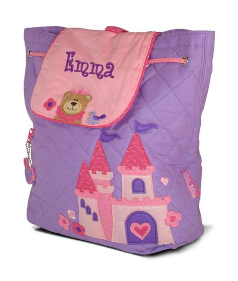 personalized princess backpack embroidered monogram