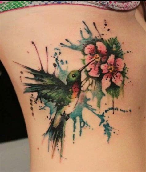 watercolor tattoo ribs 29 fantastic watercolor bird tattoos