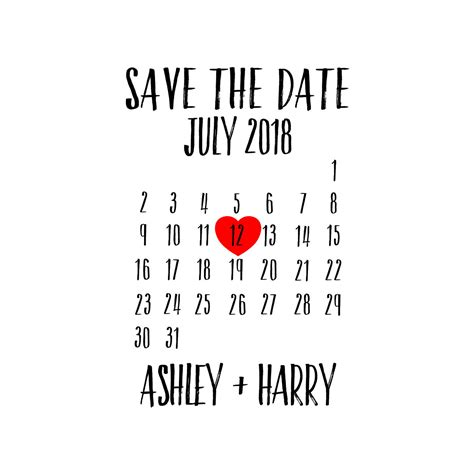 Custom Save The Date Calendar St Personalized St Save The Date Rubber St Template