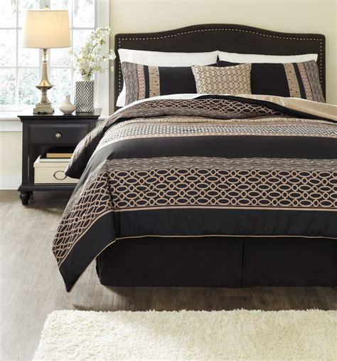 charcoal bedding stephens charcoal king comforter set asl q170005k ashley