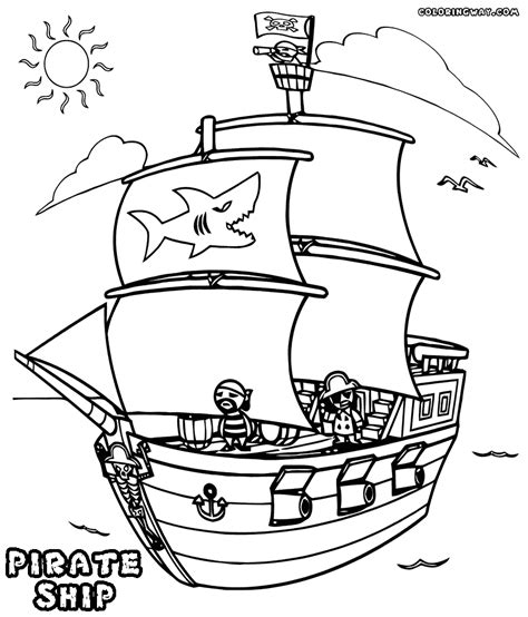 Pirate Ship Coloring Page by Pirate Ship Coloring Pages Printable Sketch Coloring Page