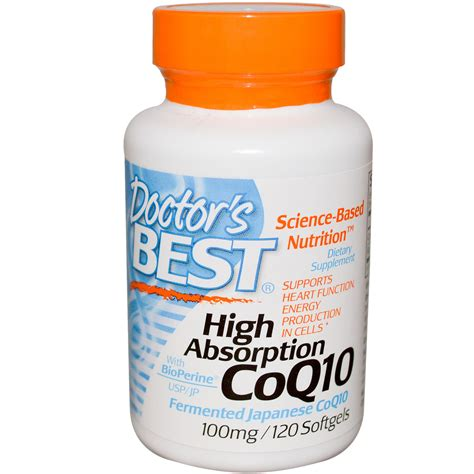 best coq10 supplement doctor s best coq10 with bioperine 100 mg 120 softgels