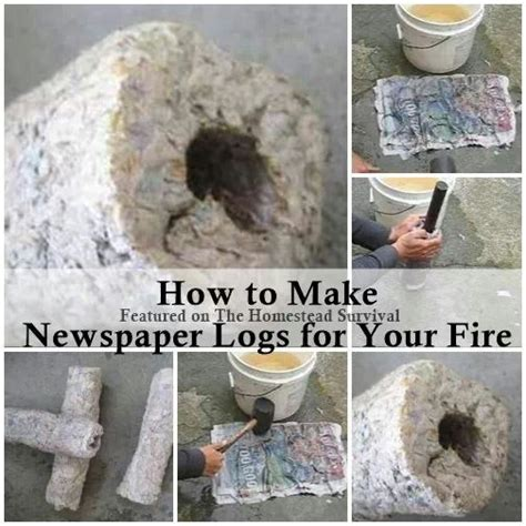How To Make Paper Logs For Burning - newspaper logs for your self reliance